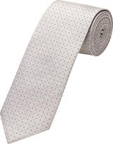 Oxford Silk Tie Dots Grey X