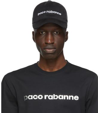 Paco Rabanne Black Tex Logo Cap