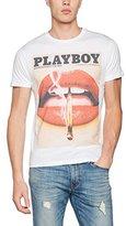 Playboy Men's Print Mouth T-Shirt