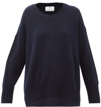 Allude Cashmere Sweater - Womens - Navy