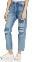 Frame Le Original Distressed Straight-Leg Jeans in Farris