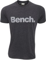 Bench Mens Corporation Short Sleeve Crew Neck T-Shirt (Black/Grey)