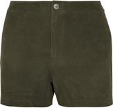 J Brand Mila suede shorts
