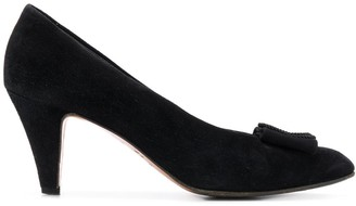 Prada Pre Owned 1990's Bow Detail Pumps