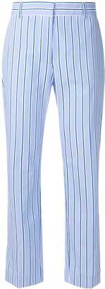 Victoria Beckham striped cropped trousers