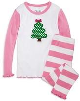 Sara's Prints Girls' Polka Dot Christmas Tree Pajama Set - Sizes 2-7