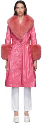 Saks Potts Pink Foxy Coat