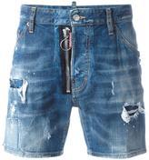 DSQUARED2 Dan distressed denim shorts - men - Cotton/Polyester/Spandex/Elastane - 44