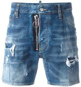 DSQUARED2 Dan distressed denim shorts - men - Cotton/Polyester/Spandex/Elastane - 46