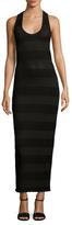 James Perse Cotton Bar Stripe Tank Dress