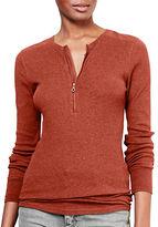 Lauren Ralph Lauren Slim-Fit Cotton Half-Zip Shirt