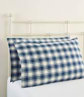 L.L. Bean L.L.Bean Ultrasoft Comfort Flannel Pillowcases, Check Set of Two