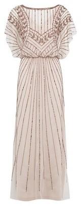 Dorothy Perkins Womens Showcase Rose Gold Abby Maxi Dress
