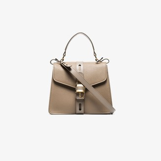 Chloé Grey Aby small leather top handle bag