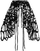 Ann Demeulemeester open-knit shawl