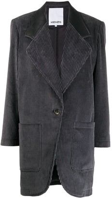 Kenzo Single-Breasted Corduroy Coat
