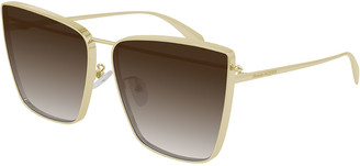 Alexander McQueen Oversized Metal Cat-Eye Sunglasses