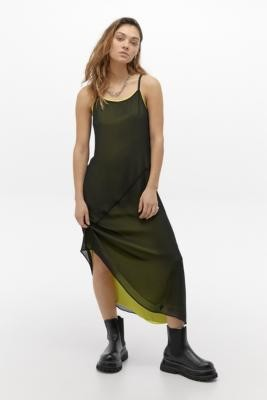 Calvin Klein Jeans Double Layer Slip Midi Dress - Assorted XS at Urban Outfitters