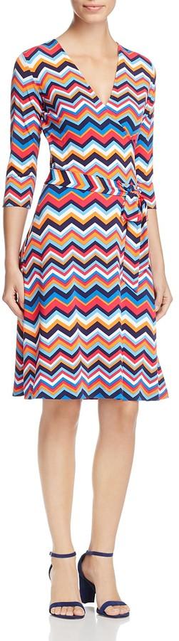 Leota Perfect Chevron Stripe Wrap Dress