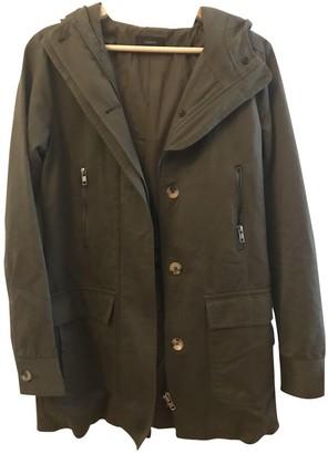 Joseph Khaki Cotton Coat for Women