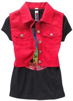 Knitworks peace sign tee and crop vest set - girls 7-16