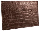 Trafalgar Men's Genuine Alligator Leather Card Case - Black