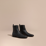Burberry Leather Ankle Boots , Size: 44, Black