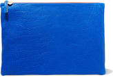Clare Vivier Fold-over textured-leather clutch