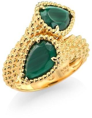 Boucheron Serpent Boheme 18K Yellow Gold & Malachite Two-Stone Ring
