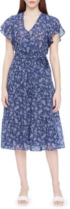 Parker Bessie Floral Faux Wrap Cotton Dress