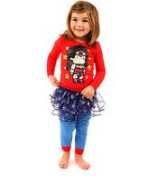 Intimo Wonder Woman Scribblenauts Tutu Pajama Set - Toddler & Girls