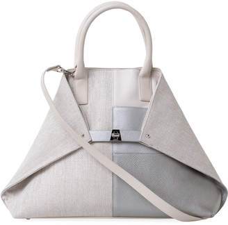 Akris Ai Small Patchwork Shoulder Tote Bag
