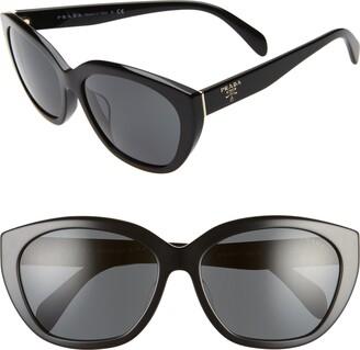 Prada 59mm Cat Eye Sunglasses