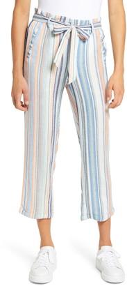 Caslon Stripe Tie Waist Crop Pants