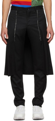 Comme des Garcons Black Wool Skirted Trousers