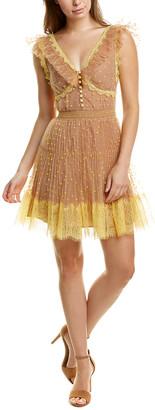 Self-Portrait Polka Dot Mini Dress
