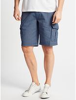 John Lewis Stripe Cargo Shorts, Navy