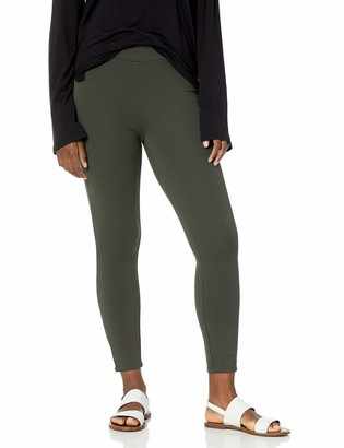 Daily Ritual Ponte Legging with Ankle Side Zips Pants