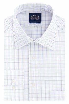 Eagle Men's Dress Shirt Regular Fit Non Iron Stretch Check
