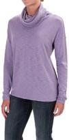 Lilla P Cowl-Neck Shirt - Pima Cotton/Modal, Long Sleeve (For Women)