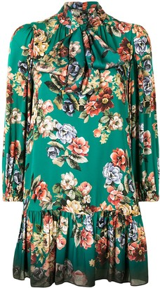 Alice + Olivia Floral Print Mini Dress