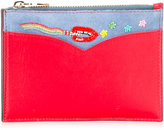 Olympia Le-Tan rainbow stitch purse - women - Cotton/Leather/Suede - One Size