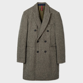 Paul Smith Men's Grey Double-Breasted Wool-Blend Red Ear Overcoat