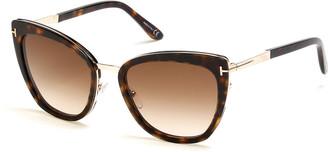 Tom Ford Simona Cat-Eye Metal & Acetate Sunglasses