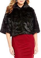 Alex Marie Lillie Faux-Fur Elbow-Sleeve Jacket
