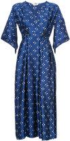 Fendi embellished V-neck dress