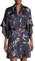 Natori Pandora Floral-Print Silk Robe