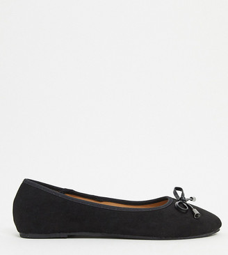 Raid Wide Fit Emma ballerina flats in black