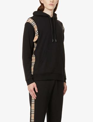Burberry Check-print cotton-jersey hoody