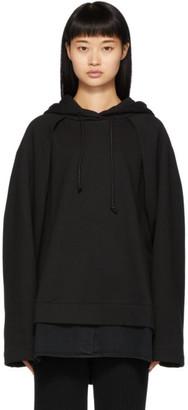 Juun.J Black Sleeve Detail Hoodie